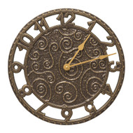 "Whitehall Flourish 14"" Indoor Outdoor Wall Clock"