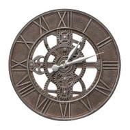 "Whitehall Gear 21"" Indoor Outdoor Wall Clock"