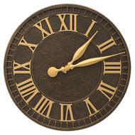 """Whitehall Geneva 16"""" Indoor Outdoor Wall Clock"""