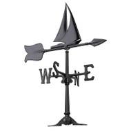 "Whitehall 24"" Sailboat Accent Weathervane - Black"