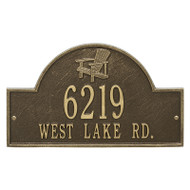 Whitehall Personalized Adirondack Arch Plaque