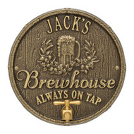 Whitehall Oak Barrel Beer Pub Plaque 1-line
