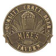 Whitehall Quality Craft Beer Tavern Round Plaque, Standard Wall 1-line