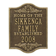 Whitehall Buena Vista Anniversary Wedding Personalized Plaque