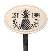 Whitehall Pineapple Established Ceramic Personalized Plaque