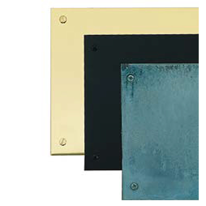 Small Pewter Door Kick Plate: BRASS Accents Door Kick Plate Polished Brass