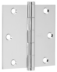 "Ives Architectural Hinges 1000 Series Residential Full mortise Steel Substrates hinges Non rising pin 3-1/2"" x 3-1/2"", Square Corner (Order in multiples of 3) - 1010F"