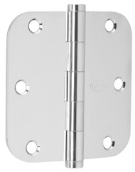 "Ives Architectural Hinges 1000 Series Residential Full mortise Steel Substrates hinges Non rising pin 3-1/2"" x 3-1/2"", 5/8"" Radius Corner (Order in multiples of 3) - 1011F"
