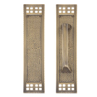 "BRASS Accents Arts & Crafts Push & Pull Plate Collection 2-1/2"" x 11-1/4"""