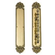 "BRASS Accents Fleur De Lis Push & Pull Plate Collection 3"" x 18"""