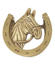 """BRASS Accents Horse Door Knocker 5-3/8"""""""