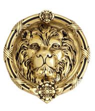 """BRASS Accents Leo Lion Door Knocker 8-3/8"""""""
