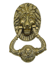 BRASS Accents Lion Door Knocker