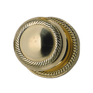 "BRASS Accents Charleston Collection Knob / Lever Set - 2-1/8"" bore - concealed mount"