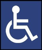 6 inch International Handicap Symbol