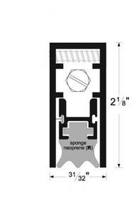 Semi-Mortise Automatic Door Bottom