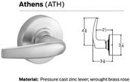 Schlage ND Series Vandlgard Grade 1 Cylindrical Locks - Athens