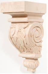 Hand Carved Corbels - Leaves - 198-00-110