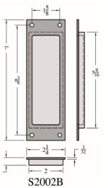 Accurate Pocket Door Flush Pull - S2002B