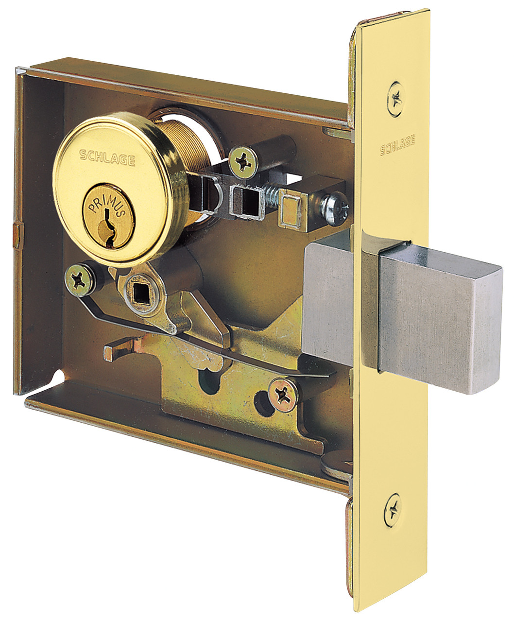 Schlage l series l400 grade 1 small mortise deadbolt locks for Schlage mortise lock template