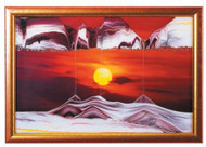 KB Collection Sand Art Wall Mount Movie Series Small Golden Sun - Small Size