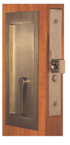 Accurate Self-Latching Sliding Pocket Door Passage Lock - SL9125PDL