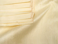 Cream Yellow 100% Silk Dupioni Fabric