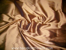 Chestnut Brown 100% Authentic Silk Fabric