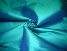 Turquoise Green 100% Authentic Silk Fabric