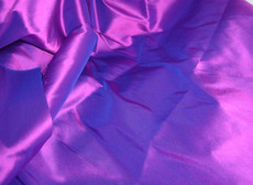 Cobalt Violet Shot Blue 100% Authentic Silk Fabric