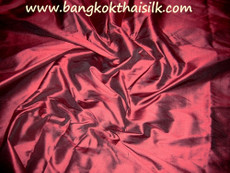 Burgundy Red 100% Authentic Silk Fabric