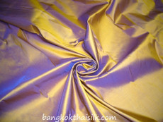 Gold Shot Purple 100% Authentic Silk Fabric