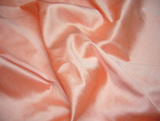 Peach Orange 100% Authentic Silk Fabric