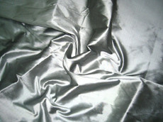 Gray Silver 100% Authentic Silk Fabric
