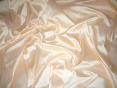 Cream Peach 100% Authentic Silk Fabric