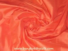 Orange Satsuma 100% Authentic Silk Fabric