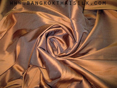 Brown Bronze 100% Authentic Silk Fabric