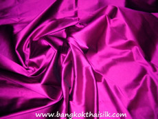 Deep Fuchsia 100% Authentic Silk Fabric