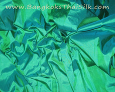 Bright Sea Green 100% Authentic Silk Fabric