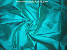 Teal Green 100% Authentic Silk Fabric