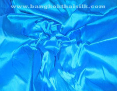Caribbean Blue 100% Authentic Silk Fabric