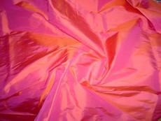 Vermilion-Pink 100% Authentic Silk Fabric