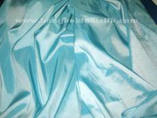"Aqua Light Faux Silk Taffeta 60""W Fabric"