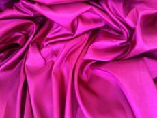 "Deep Pink Fuchsia Faux Silk Taffeta 60""W Fabric"