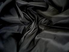 "Black Faux Silk Taffeta 60""W Fabric"