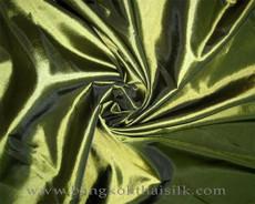 "Lime Green Faux Silk Taffeta 60""W Fabric"