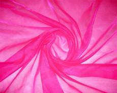 Sparkle Sheer Organza - Shocking Pink