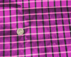 Pink w Black Box Checks 100% AUTH Silk Fabric