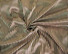 "Gold & Brown Stripe Satin 44"" Fabric"
