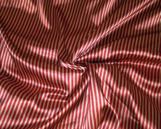 "Gold & Red Stripe Satin 44"" Fabric"